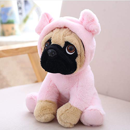 GOONEE Dog Plush Toy - Simulation Dogs Stuffed Animal 8 Inch Pet Plush Toy Animal Toys Children Kids Birthday Gifts - 8 Inch Pink Pig - Small Large Tough Aggressive Chewers Godog Interactive -