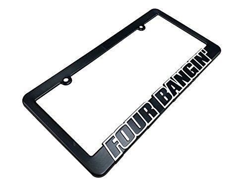 FOUR BANGIN License Plate Frame Black - 4 Cylinder Acura