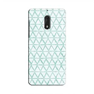 Cover It Up - Triangle Print Blue Nokia 6 Hard Case