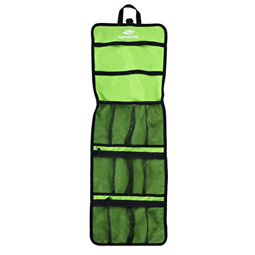FLAMEER Folding Rock Climbing Caving Quickdraw Sling Carabiner Collection Bag - Green