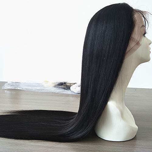 Human Hair Full Lace Wigs for Women European Virgin Hair Straight Glueless Hair Wigs Pre Plucked With Baby Hair 28 Inch