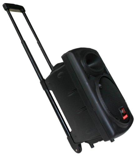 Mobile PA Sound Anlage Akku-MP3-USB-SD inkl. Funkmikrofon 500W Soundsystem E-Lektron EL25-M