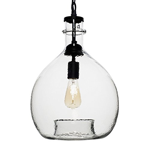 Glass Pendant Light With Chain