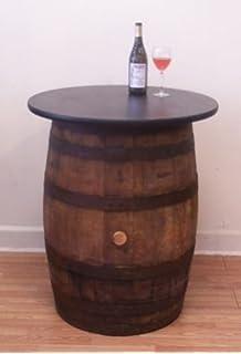 white oak whiskey barrel table pub bistro bar authentic jim beam whiskey barrel table