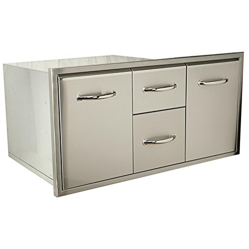 Medallion Double Handle - Luxor Medallion 42-inch Double Access Drawer With Roll Out Trash/ Propane Tank Drawer - Aht-m-combo42