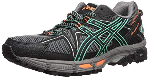 - ASICS Womens Gel-Kahana 8 Running Shoe, Black/Ice Green/Hot Orange, 10 Medium US