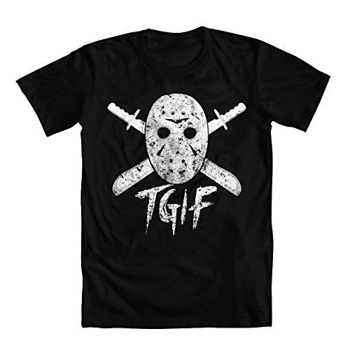 GEEK TEEZ Men's Halloween TGIF T-Shirt Black Medium