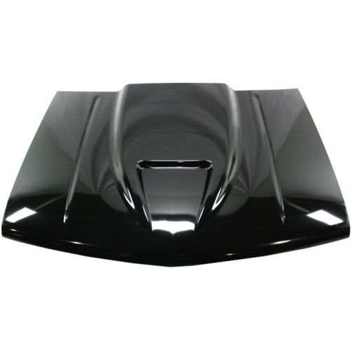 PC130120 - C/ K Fullsize Pickup Cowl Hood, Single, Ram Air Cowl, Steel, Primed, 2\ Rise
