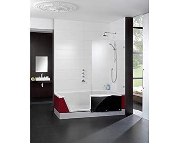 Repabad Easy-In Badewanne mit Tür und Dusche 170 cm Ausführung links ...