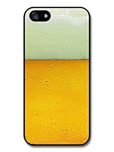 AMAF ? Accessories Beer with Foam and Bubbles Alcohol Drink Pattern case for iPhone 5 5S