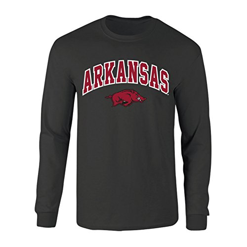 Arkansas Long Sleeve T-shirt - Elite Fan Shop Arkansas Razorbacks Long Sleeve Tshirt Heather Arch Gray - M - Charcoal