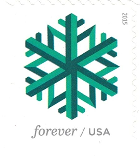 Geometric Snowflakes USPS Forever Stamps 100 Stamps (5 Books of 20) Photo #5