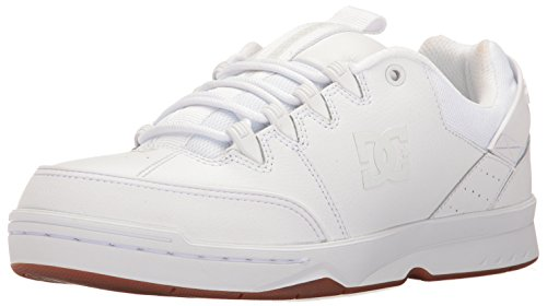 DC Herren-Skateboarding-Schuh Weiß / Gummi