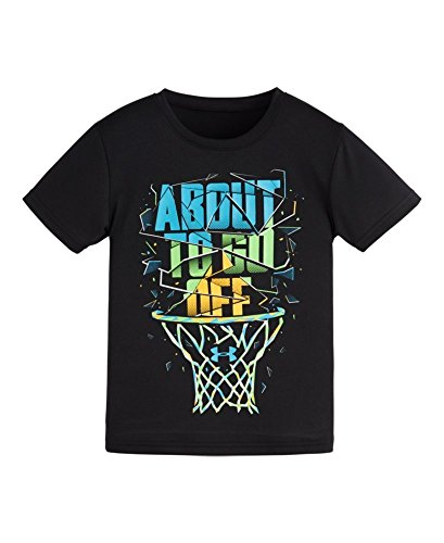 Off Under Armour (Under Armour Kids Boy's About To Go Off Short Sleeve (Little Kids/Big Kids) Black T-Shirt 5 Little)