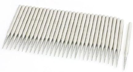 uxcell 軸付き砥石 砥石モンドビット ダイヤモンドビット テーパーヒント研削ビット 30個12x1mm 砥石ポイントマウント