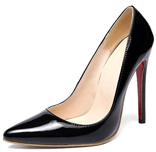 Femme Noir Enfiler à Aiguille Easemax Escarpins Mode Talon 6w0q6Uvx