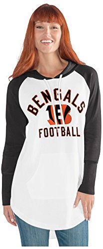 GIII For Her NFL Cincinnati Bengals Adult Women All Division Tunic Hoodie, X-Large, (Cincinnati Bengals Nfl Hoody)