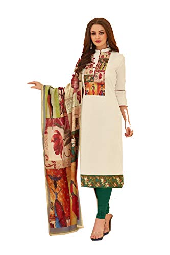 Indian Women Designer Partywear Ethnic Traditonal Off White Salwar Kameez.