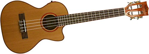 Kala KA-ATP-CTG-CE Cedar Top Cutaway Acoustic-Electric Tenor Ukulele Natural by Kala