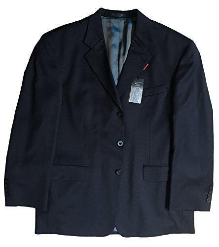 Alfani Men's Solid Navy 3-Buttons Wool Blazer Sport Coat, 42S