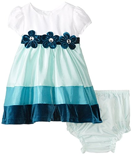 Rare Editions Baby Baby Girls' Colorblock Social Dress, Multi Color, 18 Months