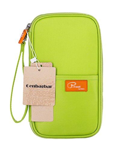 Price comparison product image Genbagbar RFID Family Travel Document Organizer Travel Wallet Passport Holder Waterproof (Green)