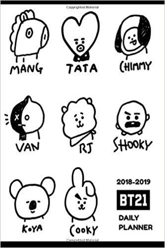 2018-2019 BTS Daily Planner (9781729085325 ... - Amazon.com