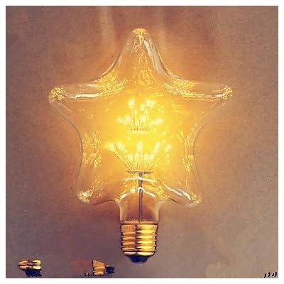 FDH E27 2Wstar Star Edison Hotel Der Bar Ampoule décorative,alimentation 110-240V