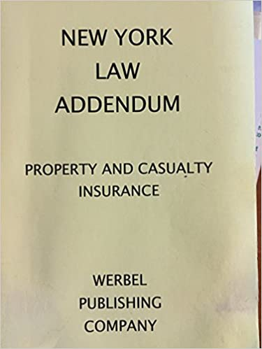New York Law Addendum Property & Casualty Insurance