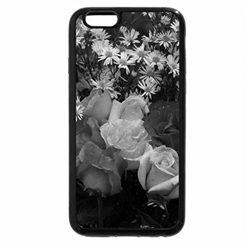 iPhone 6S Case, iPhone 6 Case (Black & White) - beautiful widescreen rose bouquet