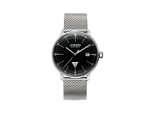 Junkers Bauhaus Automatic Watch, Stainless Steel, Black, 40 mm, 3 atm, Day