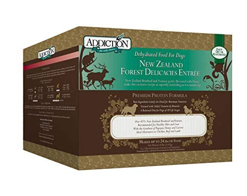 Addiction New Zealand Forest Delicacies Filler Free Dehydrated Dog Food, 8 Lb