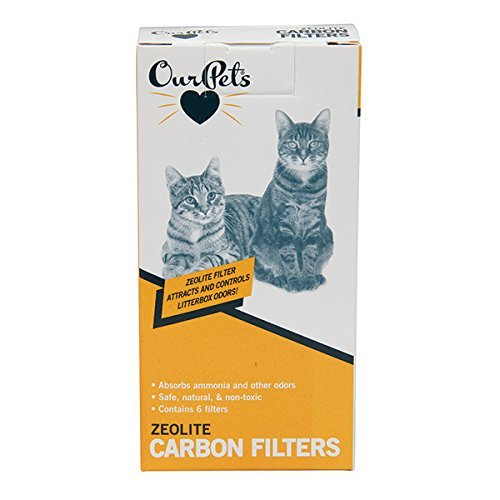 Our Pet's Carbon Cat Litter Box Filters, Pack of 6 by Our Pets