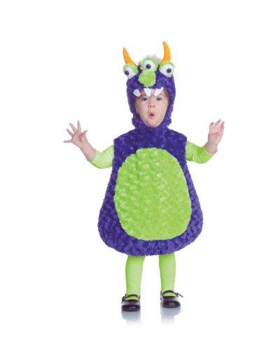 Underwraps Costumes Baby's Three Eyed Monster Belly, Purple/Green, (Halloween Costume Baby Alien)