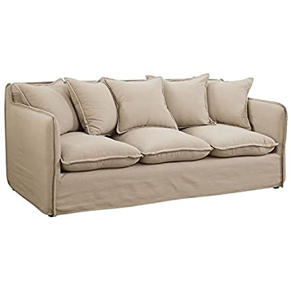 Amazon.com: Furniture of America Bellethorne Sofa in Beige ...