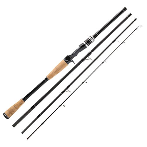SeaKnight YASHA Fishing Rod 7Ft 4 Sections M Power 12-25lbs Carbon Fiber Spinning Casting Fishing Rod Travel Rod with Rod Bag