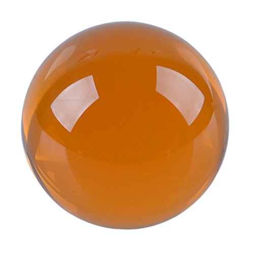 - LONGWIN 60mm(2.3 inch) K9 Meditation Crystal Ball with Stand (Amber)