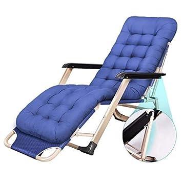 Hfyg Chaise Longue Bleue Transat Pliant Jardin Plage Office
