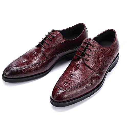 Low Scarpe Shoes Top YCGCM Comfortable Lace all'Usura Casual Uomo British da Resistente Winered 37 Business 0qqzwdxa