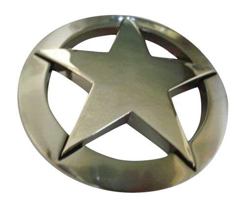 JK Trading Men's Western Texas Star Belt Buckle One Size Silver