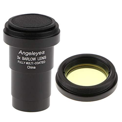 Fenteer Lente Barlow para Nikon 3X Ocular para Telescopio Óptica Fotografía Accesorio Star Observation + Filtro De Color #...
