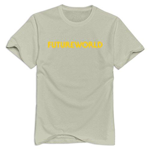 Tavil Futureworld 100% Cotton T Shirts For Boyfriends Natural Size XS