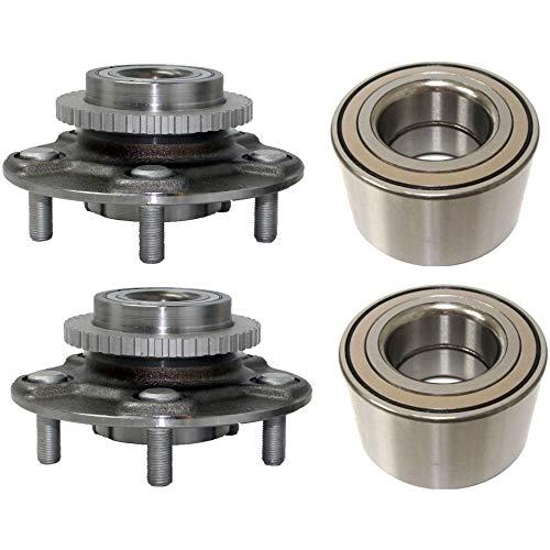 (Detroit Axle - 4PC Front Wheel Bearings and Rear Wheel Hub Bearing Assemblies for - 2000-2001 Infiniti I30 - [2002-2004 Infiniti I35] - 2000-2003 Nissan)