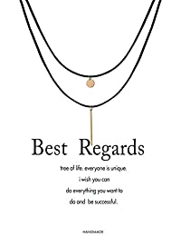 Message Card Layer Choker Necklace Lucky Elephant Pendant Necklace Infinity Chain Woman Jewellery