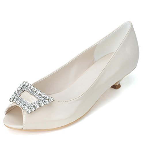 Night Specchio yc Top L 0700 05 Donna amp; Da Wedding Champagne Pu Sposa Scarpe Scintilla Custom 0nwad6q