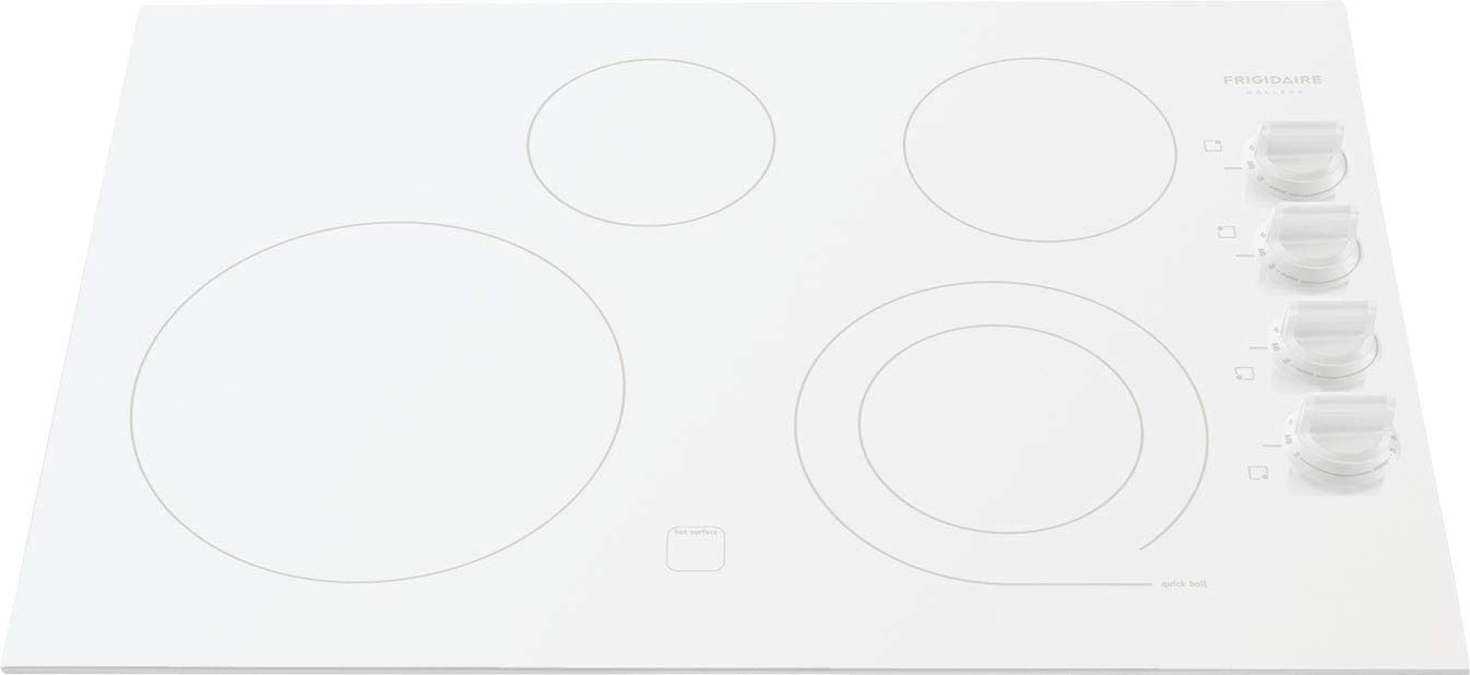 "Frigidaire Gallery 30"" White Electric Stovetop Cooktop FGEC3045KW"