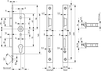 BKS 71014 - Cerradura de embutir para puertas: Amazon.es ...