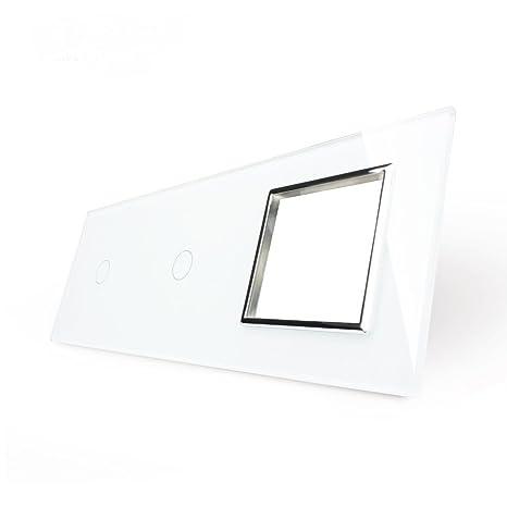 Embellecedor de cristal para interruptor doble VL-C701-11/VL-C701-