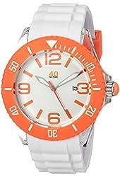 40Nine Unisex 40NINE02/ORANGE3 Large 45mm Analog Display Japanese Quartz White Watch