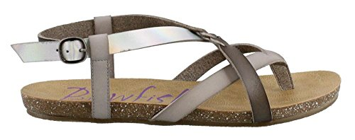 Dyecut Granola lunar Ash Sandal Women's Pisa Grey Fisherman steel Blowfish O6Rq5x0w